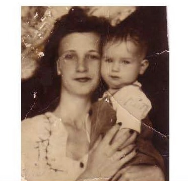 A photograph of Julie's grandmother as a young mother